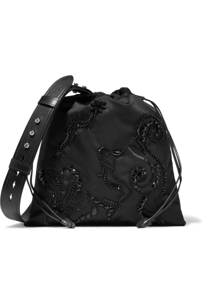 Le Style Report LeStyleReport.com Prada Embellished Nylon Shoulder Bag